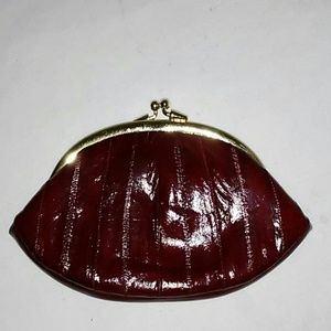 Lee Sands eel clutch / coin purse